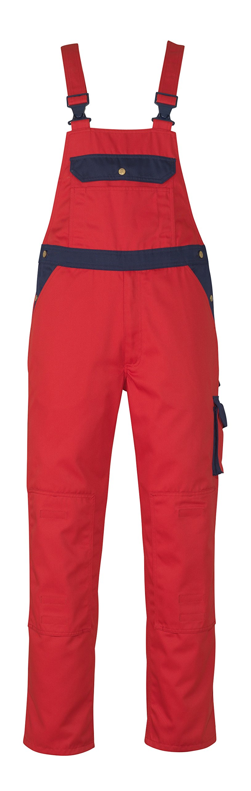 Mascot 00969-430-21-82C66''Milano'' Bib & Brace, L82cm/C66, Red/marine Blue
