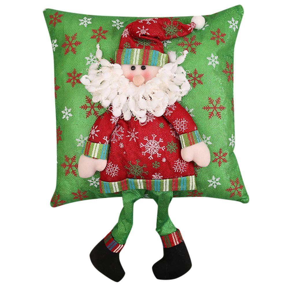 Fheaven (TM) 35cm x35cm Christmas Pillow Xmas Decorations Santa Claus Snowman Family Christmas Pillow (A)