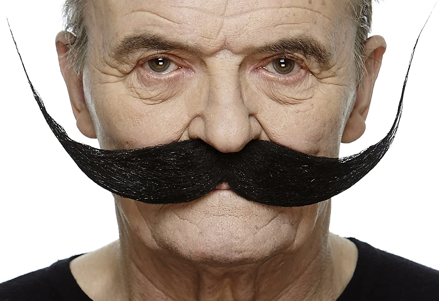 Mustaches Self Adhesive Fake Mustache Costume Accessory for Adults Large Dali Black False Facial Hair Black Color Novelty