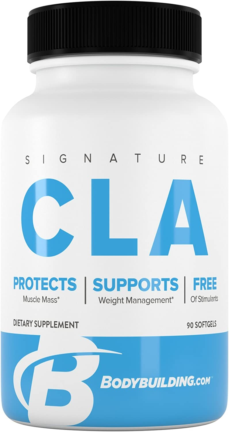 Bodybuilding Signature CLA Softgels | 1,000 MG Metabolism Support, Maintain Lean Muscle | 90 Servings: Health & Personal Care