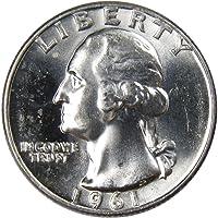 1961-D 25c Washington Silver Quarter Uncirculated Mint State