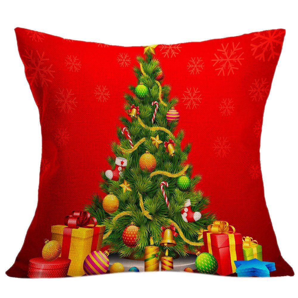 Christmas Pillow Covers 18 x 18 Inches Pillow Covers for Christmas Decorations Throw Pillow Cases Bookear