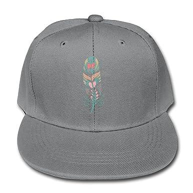3063af559d4 Trucker Hat Solid Color Baseball Caps Boy Native American Feather Girls  Adjustable