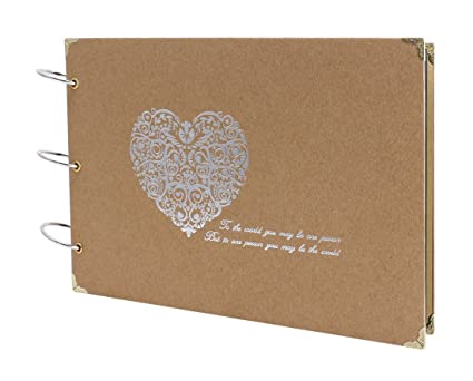 Amazon Farway Diy 10 X 7 Inch Photo Album With Plain Pages