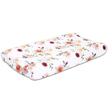 Amazon.com: Cubierta para cambiador de bebé, diseño floral ...