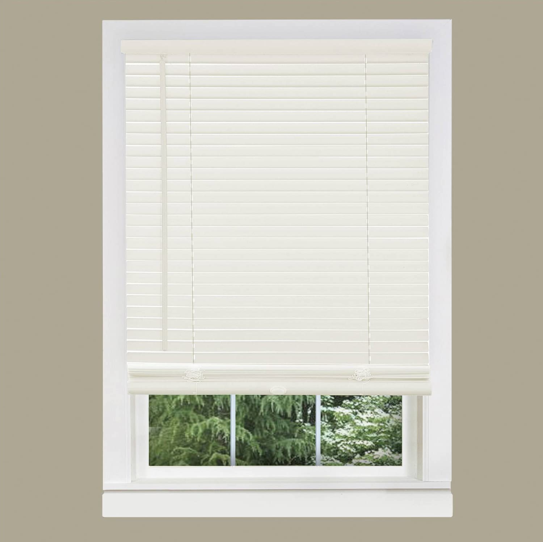 PowerSellerUSA Achim GII Cordless Morning Star Light Filtering Window Blind (Alabaster, 27