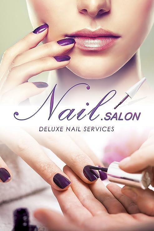 Amazon.com: Nail Art Salon Designs Pedicure Manicure shop store ...