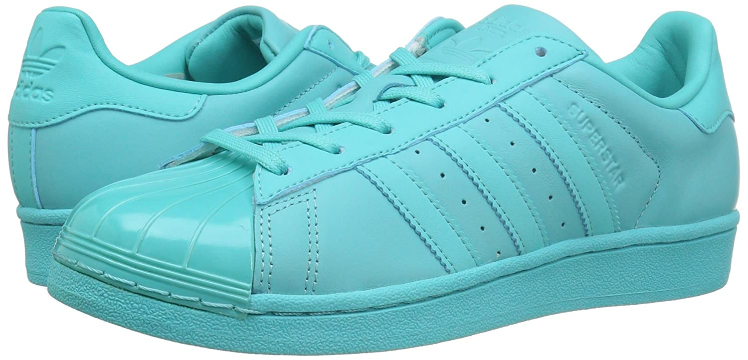 adidas Originals Women's Superstar Glossy Toe Fashion Sneakers Mint B01HJ20GRI 6.5 M US|Easy Mint Sneakers Easy Mint Black 477650