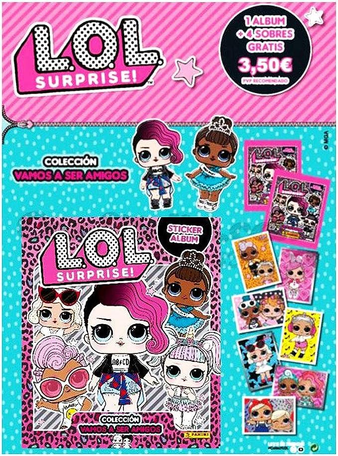 LOL Surprise 2 Tranding Cards Oficiales Álbum Coleccionista Stiker Álbum + 4 Sobres LOL Surprise: Amazon.es: Juguetes y juegos