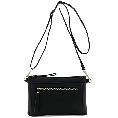cd61ac778d6 Image Unavailable. Image not available for. Color  Multi-functional  Wristlet Clutch and Crossbody Bag Black