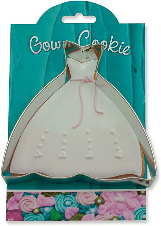 Ann Clark Cookie Cutters Gown Cookie Cutter 5 with Recipe Card