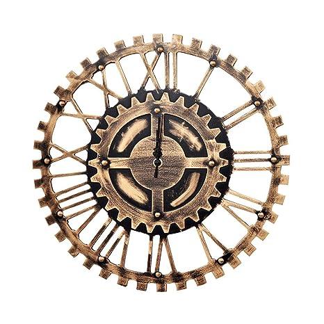 Engrenages silencieux vintage Horloge murale creuse à engrenage Horloge  murale creuse à engrenage Style métallique mécanique e0d74627b874