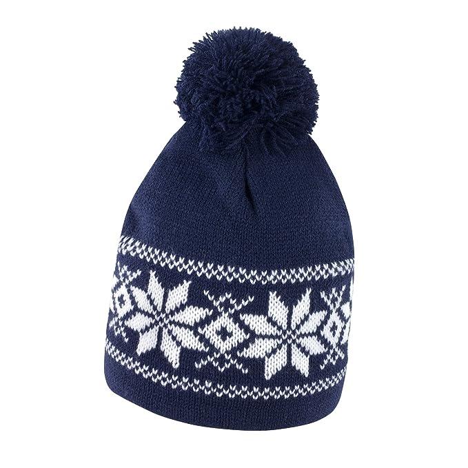 Cappellino da Sci con PON PON Cappello Invernale in Maglia Berretto Caldo  da Montagna Result R151X 03f91ac57a25