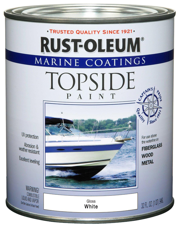 Amazon com rust oleum 206999 marine topside paint white 1 quart home improvement