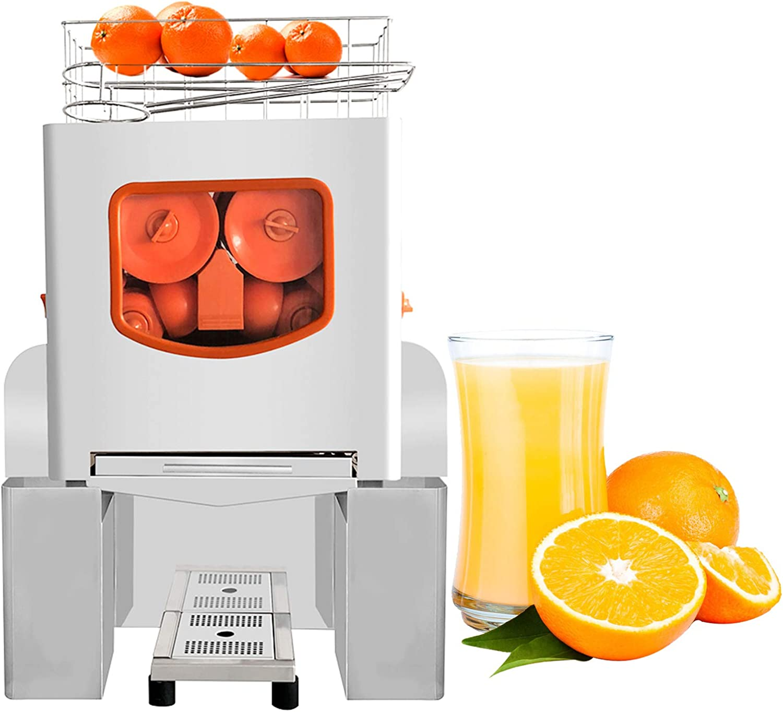 Frifer Commercial Orange Juicer Machine Automatic Juice Squeezer Lemonade Making Machine Heavy Duty Electric Citrus Stainless Steel Juice Separation, Professional Kitchen Equipment ,110V
