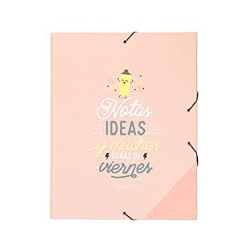 Mr; Wonderful Woa09051Es Carpeta Separadora Notas, Ideas Y Muchas Ganas De Viernes