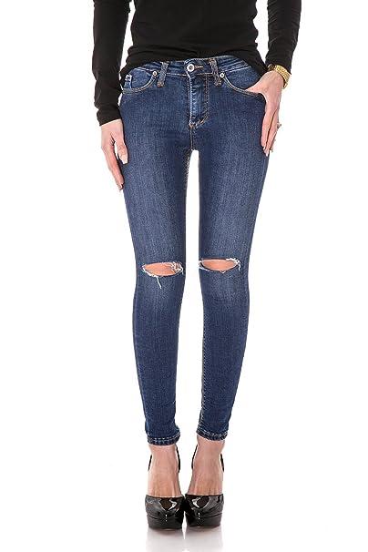 Please Jeans Donna P19 Skinny STRAPPATO Skinny