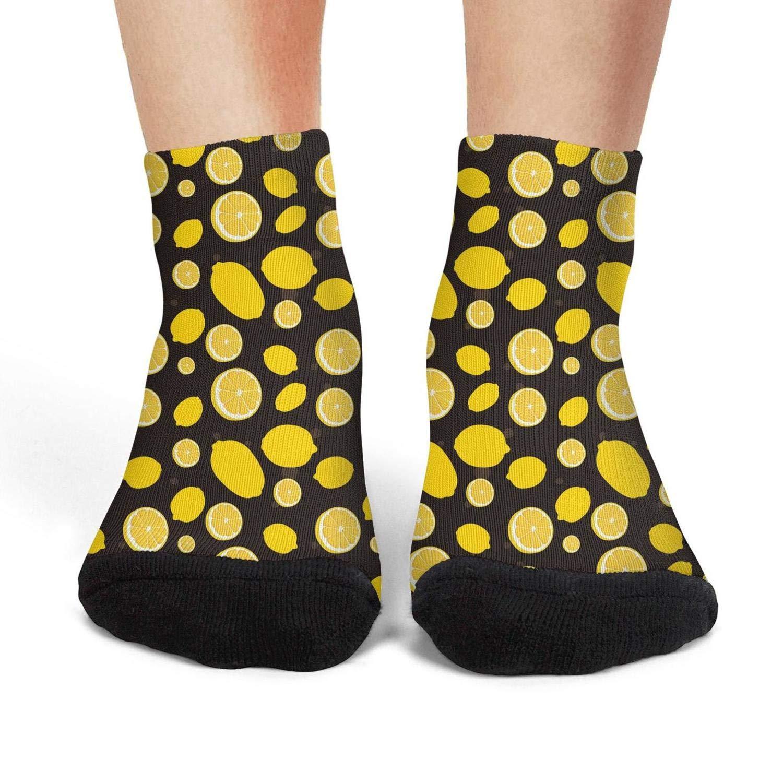 Mens athletic low cut Ankle sock Lemon cartoon pictures Short Fit Sock