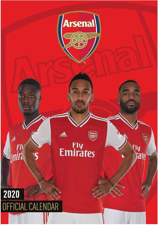 Official Arsenal FC (Premier League) 2020 Soccer Calendar