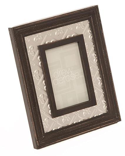 Amazon.com - Drew Derose Wood and Metal 4x6 Frame Black -