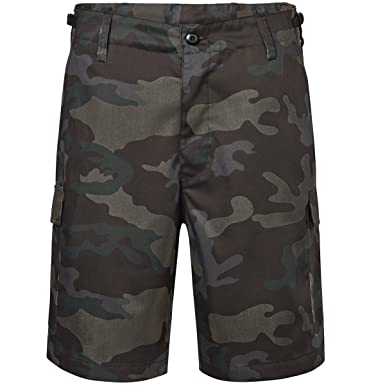Brandit Men s US Ranger Shorts Dark Camo  Amazon.co.uk  Clothing 2978bf16ee1