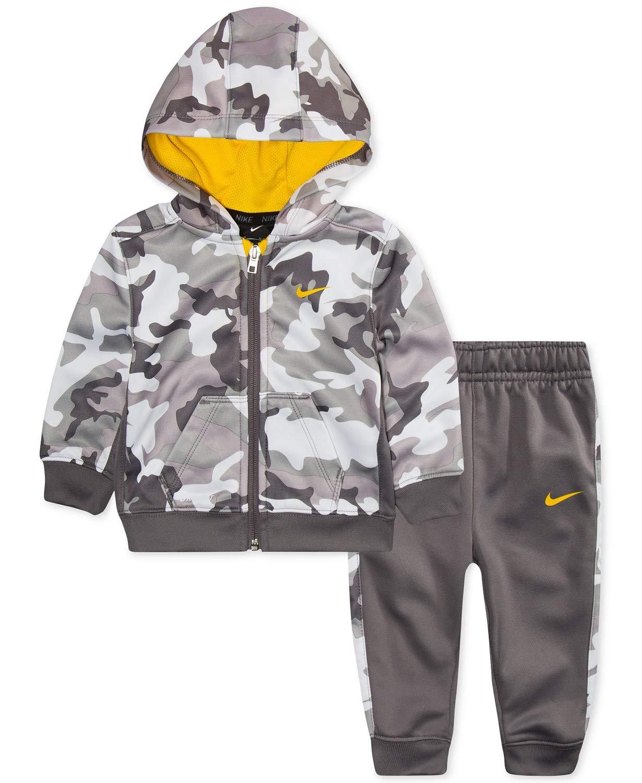 Nike   garçons' Therma Dri-Fit 2-Piece Tracksuit Pants Set - Gunsmoke, 12