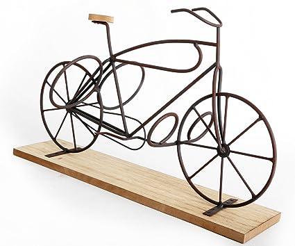 Porte Bouteille Design Et Original Vélo Sur Suppport En Bois