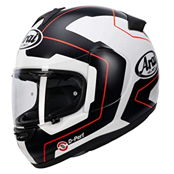 Casco de motocicleta integral Arai Axces III 3 Sports, diseño de línea azul
