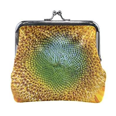 Amazon.com: Rh Studio Monedero monedero de girasol amarillo ...