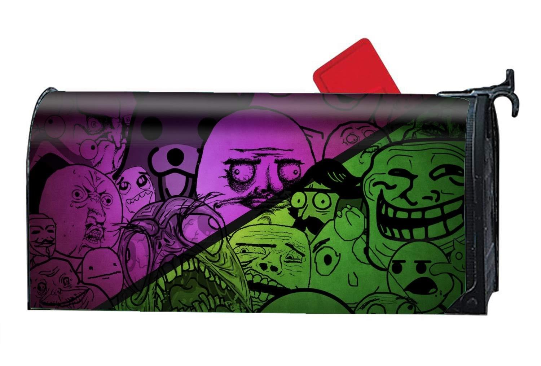 KSLIDS Humor Meme - Mailbox Makeover Cover - Decorative Wrap with Magnetism for Standard Mailbox