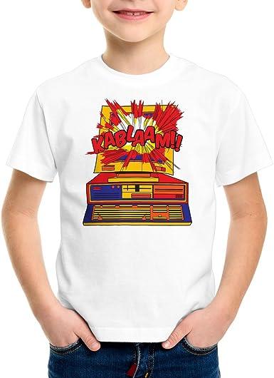 CottonCloud Kablaam!! Camiseta para Niños T-Shirt Sheldon Carta ...
