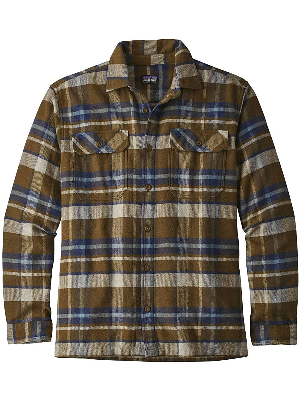 TALLA L. Patagonia M's L/S Fjord Flannel Camisa, Hombre