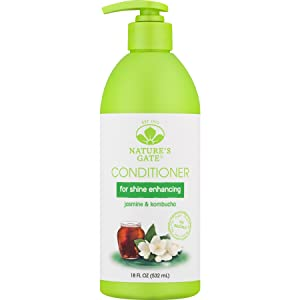Nature's Gate Jasmine + Kombucha Shine Enhancing Conditioner, 18 Fluid Ounce