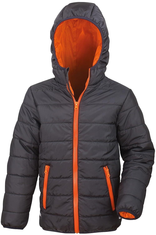 Result Core Kids Padded Lightweight Waterproof Stylish Hooded Jacket