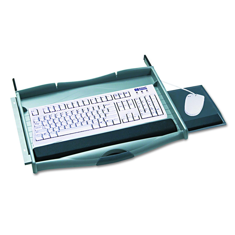 Safco Products 2213 Ergo-Comfort Premium Under Desk Keyboard Drawer, Charcoal