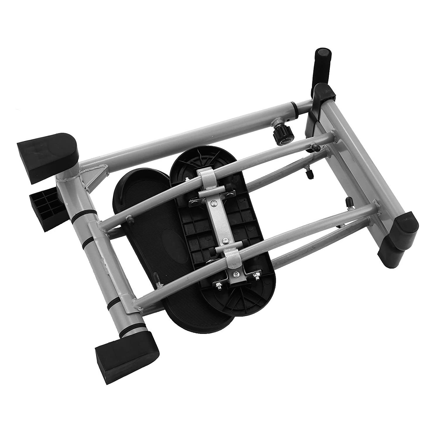 Happybuy Thigh Glider Machine Thighs Exercise Fitness Foldable Leg Exerciser with Adjustable Handle Fitness Stepper Gym Trainer Workout Machine