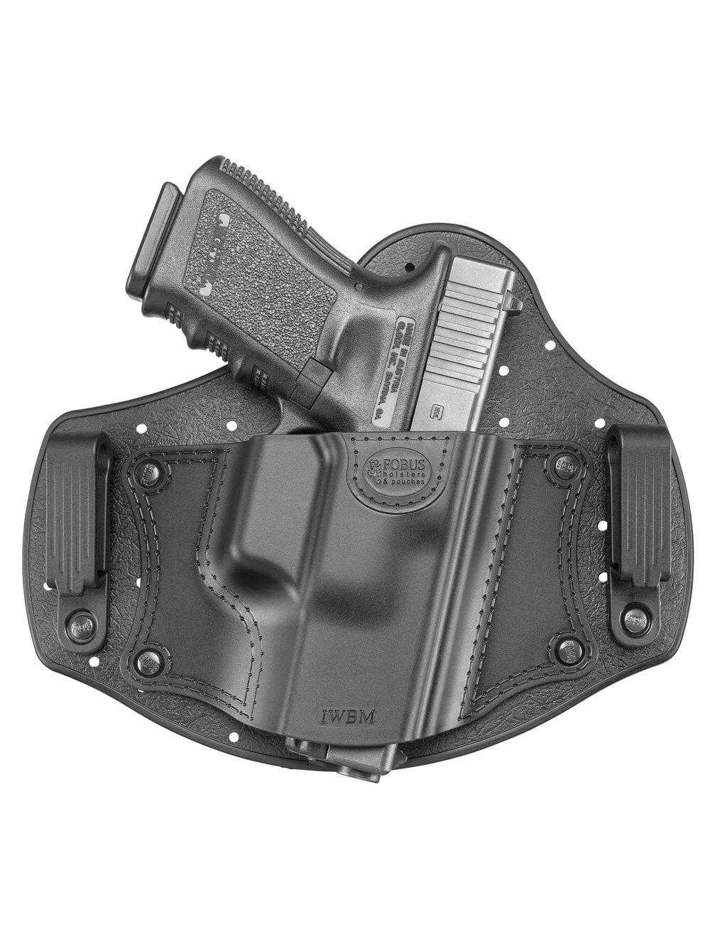 Fobus IWBM - Cartuchera para mano derecha IWB banda de interior de la cadera, mecanismo de funda de retención pasiva para Glock 17,19,26,27,28,33/Beretta PX4Compact/Sig Sauer P320, P228/Walther PPQ, P99/Smith & Wesson M & P Shield, M & P Compa