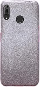 Back Cover Shiny Glitter, Two Layers Anti Shock for Huawei Y7 Prime 2019 - Rose Silver