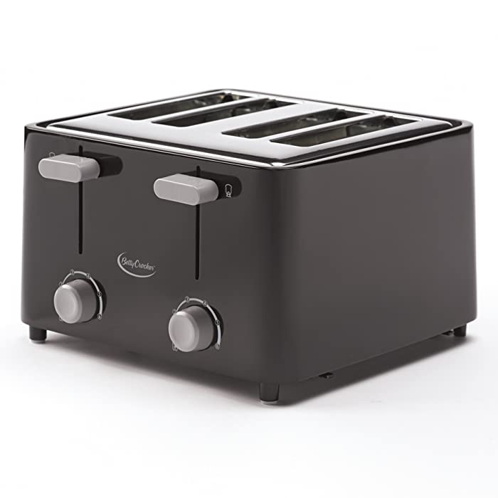 Betty Crocker BC-2626CB RA28687 4-Slice Toaster, Black