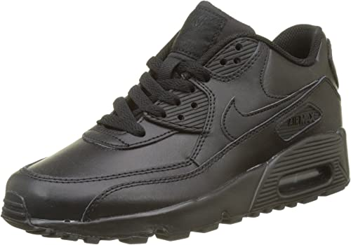 Nike Herren Air Max 90 Leather Gymnastikschuhe Schwarz