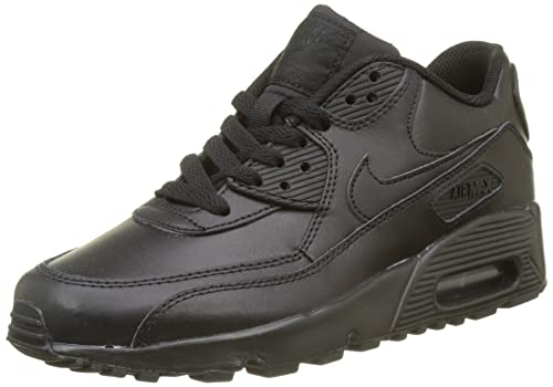 size 40 5fe3e 01397 Nike Air Max 90 Leather (GS), Boys Low-Top, Black (