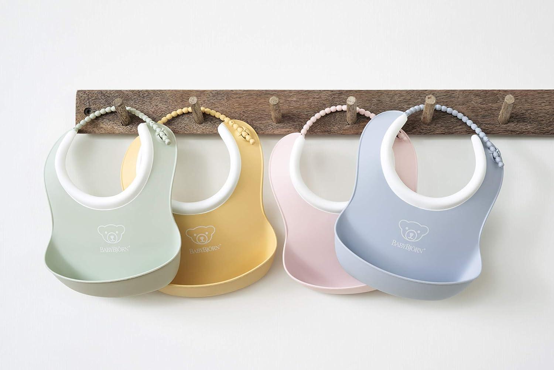 Powder Yellow//Powder Blue BABYBJ/ÖRN Small Baby Bib 2-Pack