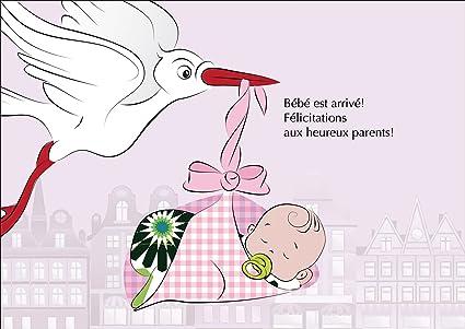 Kartenkaufrausch Carte De Bébé Fille Carte De