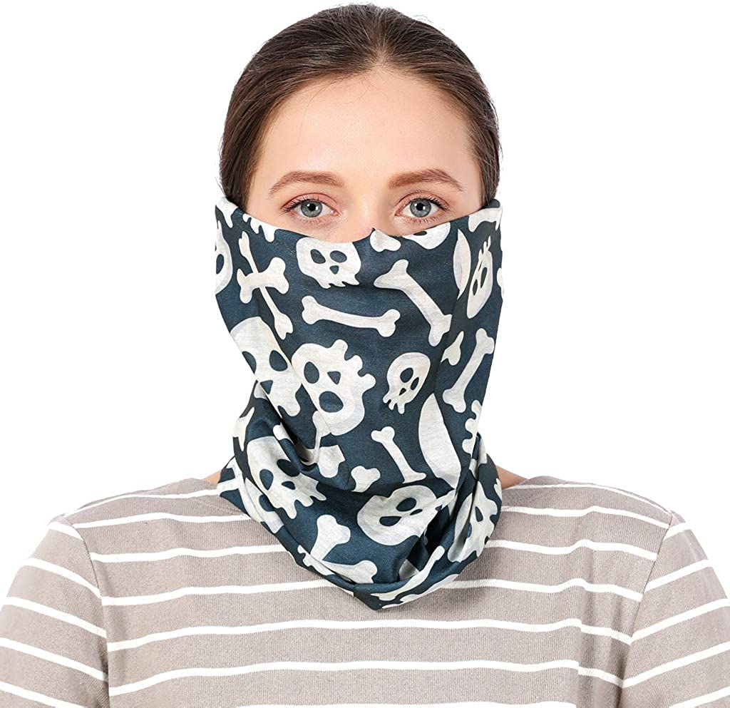 Rokeima Face Shield Schlauchschal Bandana Schlauchtuch Multifunktionstuch Halstuch Maske Schlauchschal Herren Damen Sport Face Cover f/ür Motorradfahren Fahrrad Motorradschal
