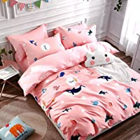 Blenzza Deco® Glace Cotton Cartoon Print Comforter for Single Bed with Attractive Luxury Bag Packing-Light Peach