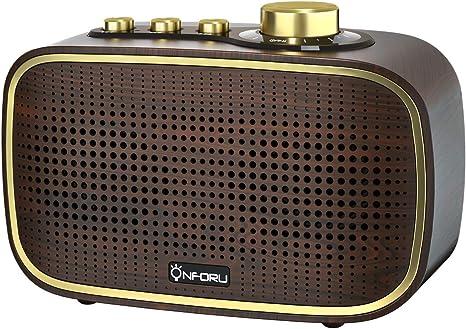 Onforu Retro Bluetooth Lautsprecher 20w Vintage Wireless Speaker Mit Starker Stereo Sound Bluetooth 5 0 Musikbox Mit 20 Stunden Spielzeit Wasserdicht Tragbar Lautsprecher Für Outdoor Party Bad Audio Hifi