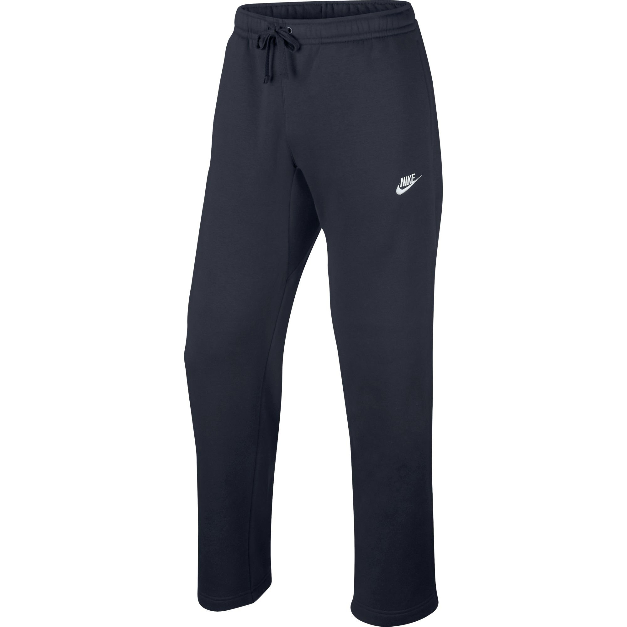 Nike Mens Open Hem Fleece Club Sweatpants Obsidian Heather/White 804395-473 Size Small by Nike (Image #1)