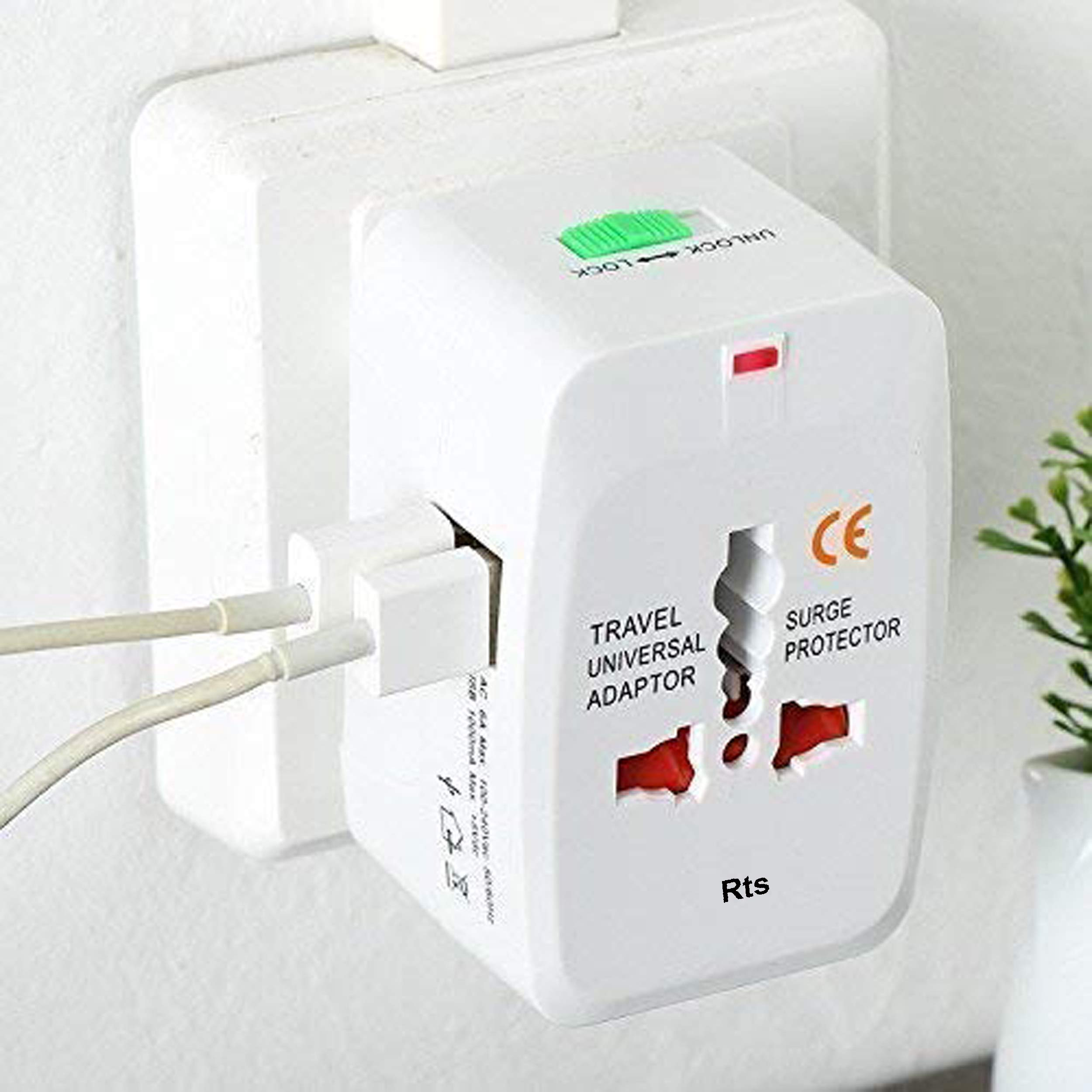 rts Worldwide Travel Adapter with Build in Dual USB Port Charger (B071HSBNQ8) Amazon Price History, Amazon Price Tracker