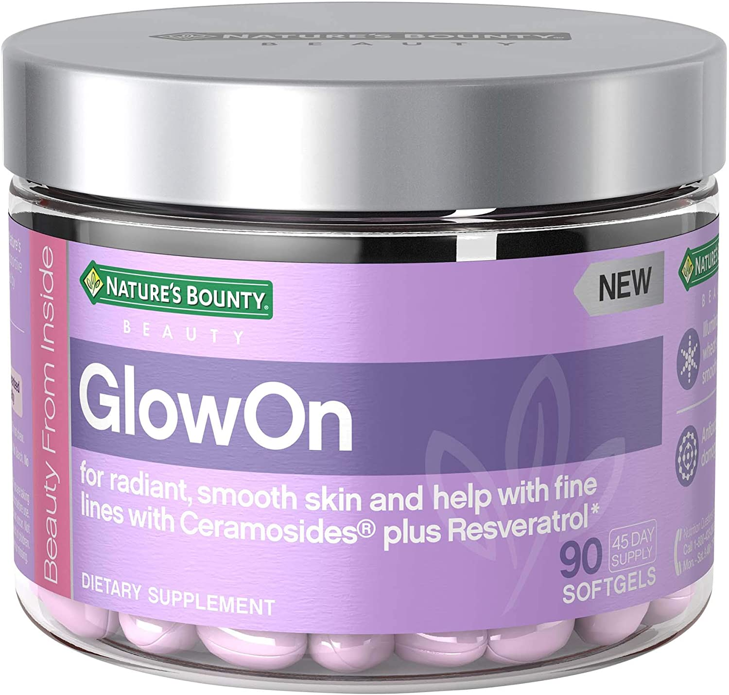 Amazon Com Nature S Bounty Glowon Beauty Multivitamins With