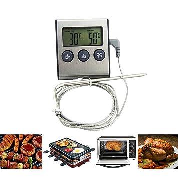 Sys Rushed termómetro digital para horno Display Lcd Digital sonda termómetro de cocina temporizador cocina cocina